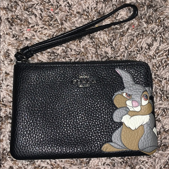 Coach Handbags - ⛔️SOLD⛔️ Disney X Coach Thumper Wristlet